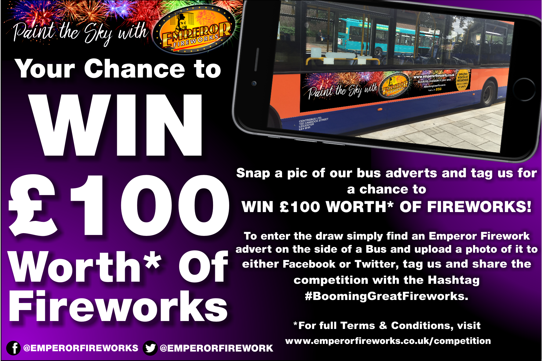 £100 competition prize (2018 Jimmy)