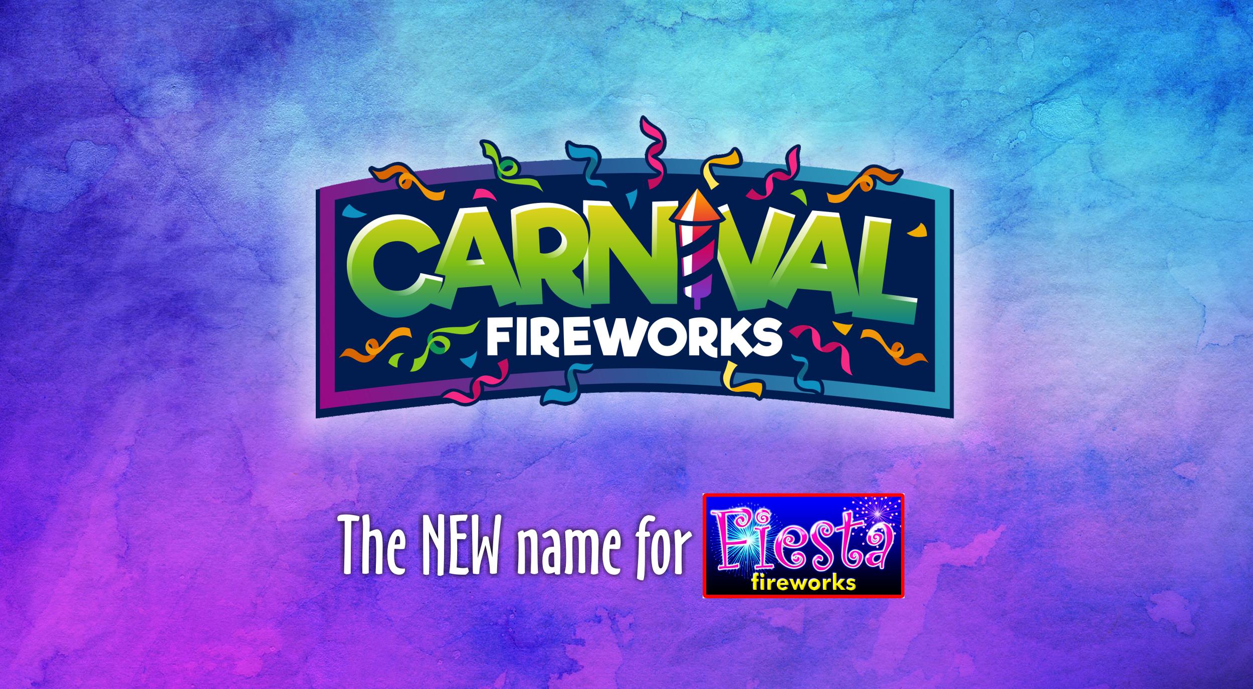 Carnival Fireworks Logo Banner