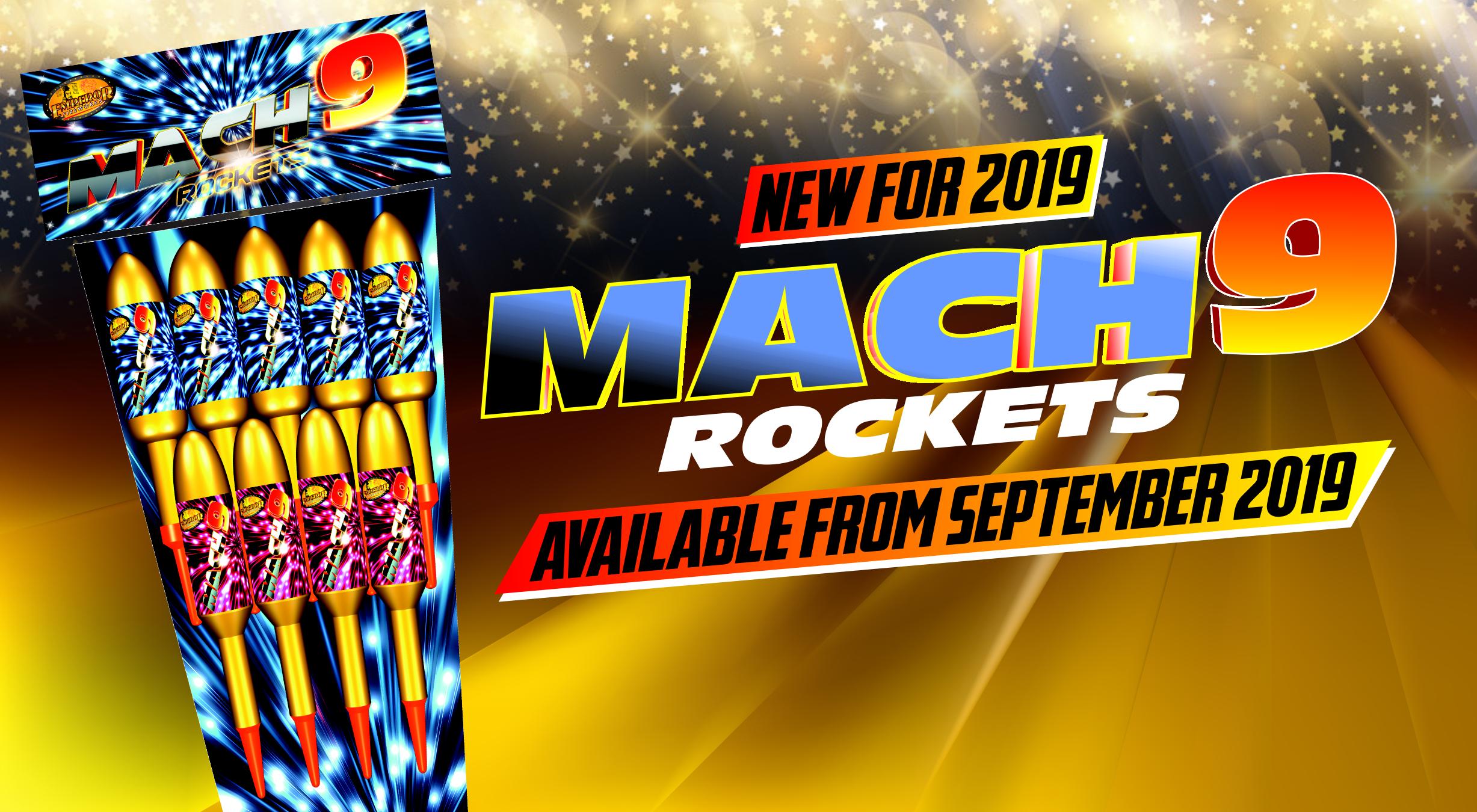 Mach 9 Rocket Banner